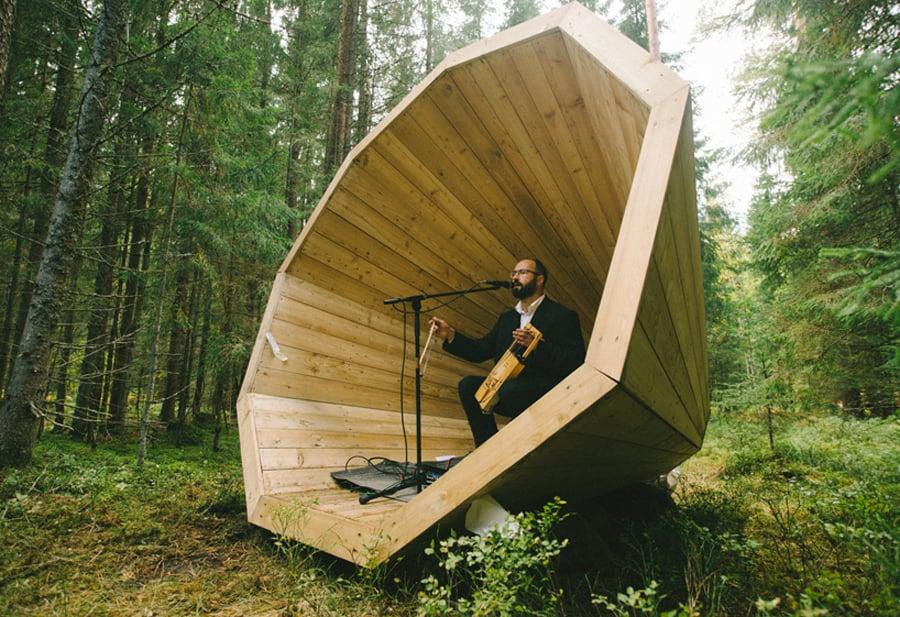 estonian-students-forest-megaphones-library-rooms-voru-county
