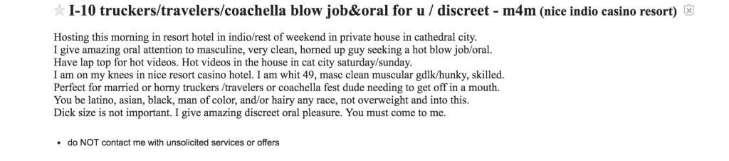 1 - I-10 Trucker Discreet blowjobs
