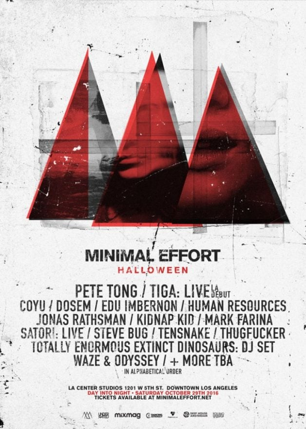 Minimal Effort-2016-lineup-Halloween