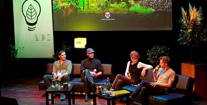 Left to Right: A. Mendes (Boom), J. Beckers (Tomorrowland), A. Tickell (Julie's Bicycle), C. Johnson (Shambala)