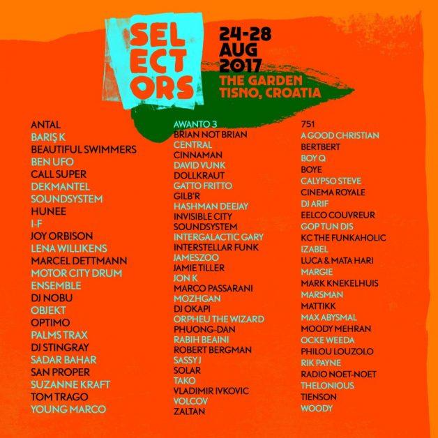 Dekmantel Selectors-2017-lineup