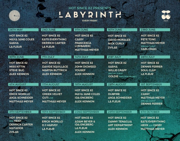 hot since 82 labyrinth fridays pacha ibiza 2017