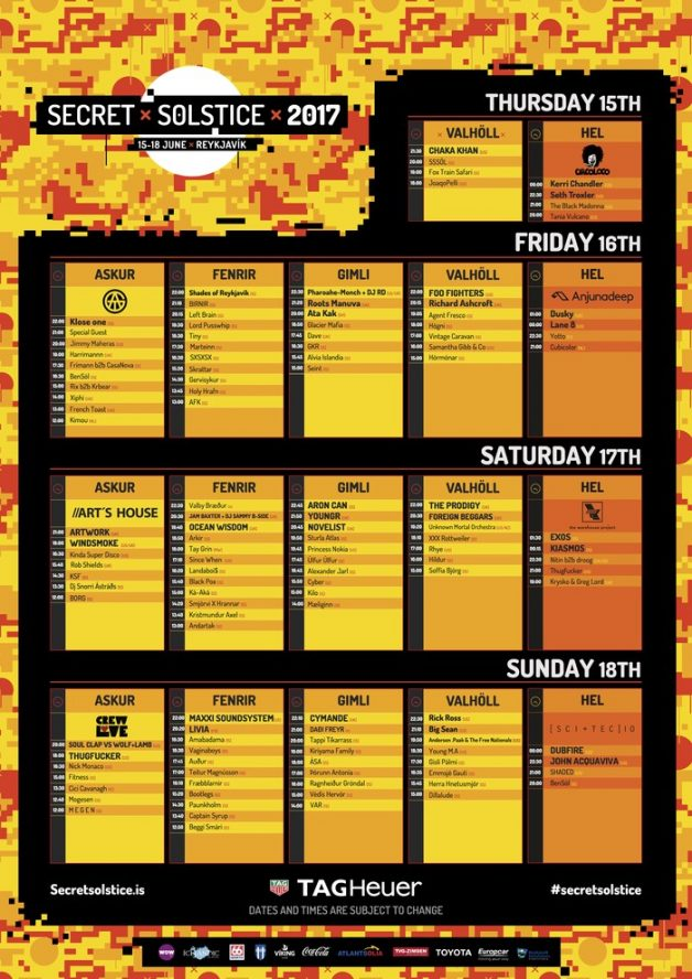 secret solstice-schedule-2017