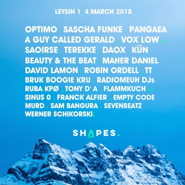 Shapes Festival - Line Up-in-post